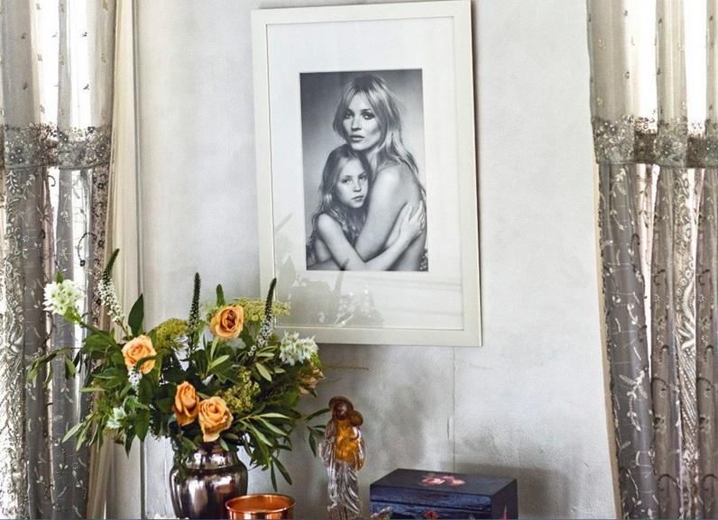 Wnętrze w stylu Kate Moss