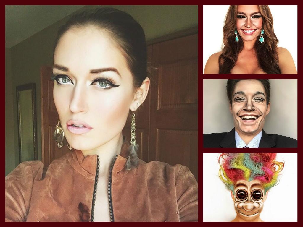 Za pomocą makijażu przemienia się w gwiazdy i znane postaci z filmów. Jest niesamowita!