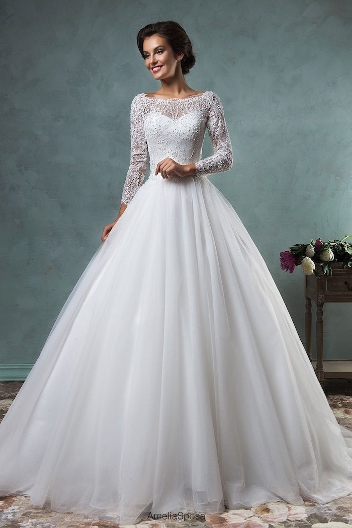 Suknie ślubne Z Koronki Długi Rękaw Gpr47 Usafrica