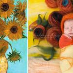 Fotografka odtwarza znane obrazy umieszczając w nich noworodki – Galeria