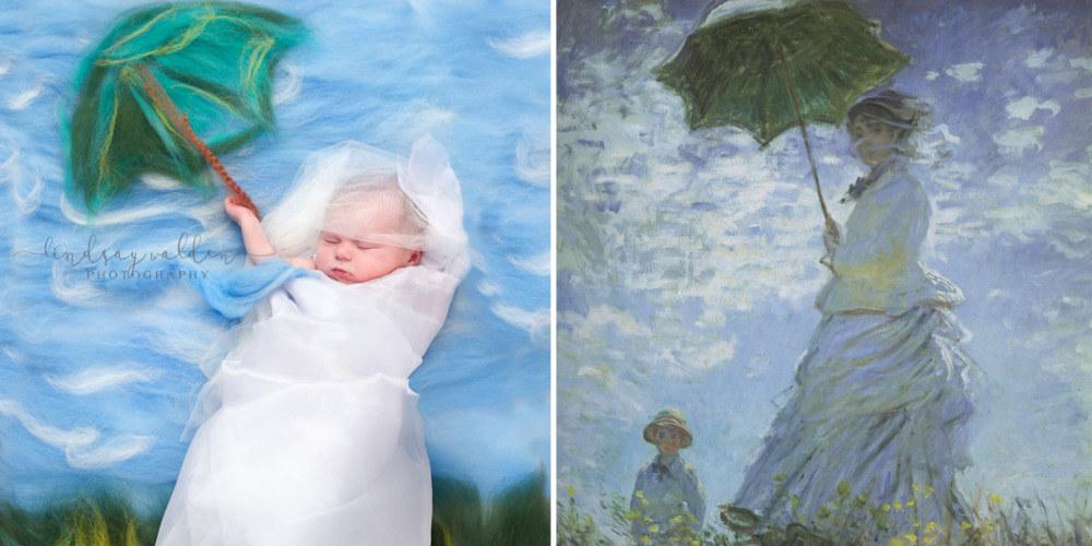 Fotografka odtwarza znane obrazy umieszczajac w nich noworodki – Galeria2
