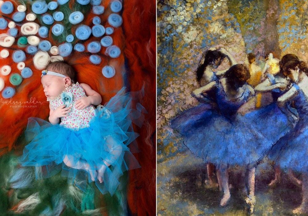 Fotografka odtwarza znane obrazy umieszczajac w nich noworodki – Galeria3