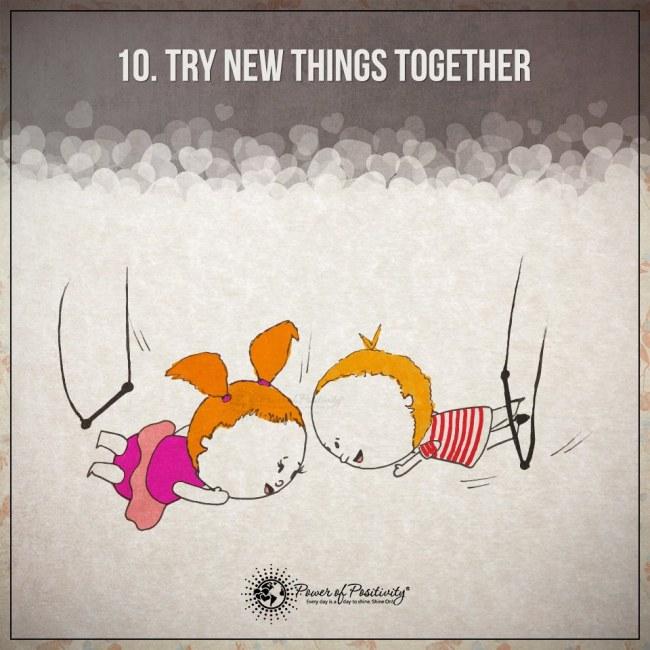 Ilustracje przedstawiajace 15 zasad szczesliwego i udanego zwiazku 10