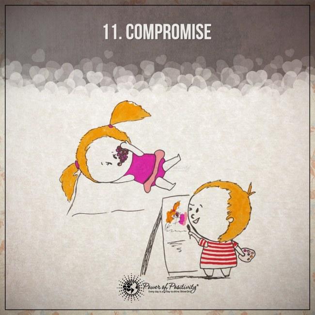 Ilustracje przedstawiajace 15 zasad szczesliwego i udanego zwiazku 11