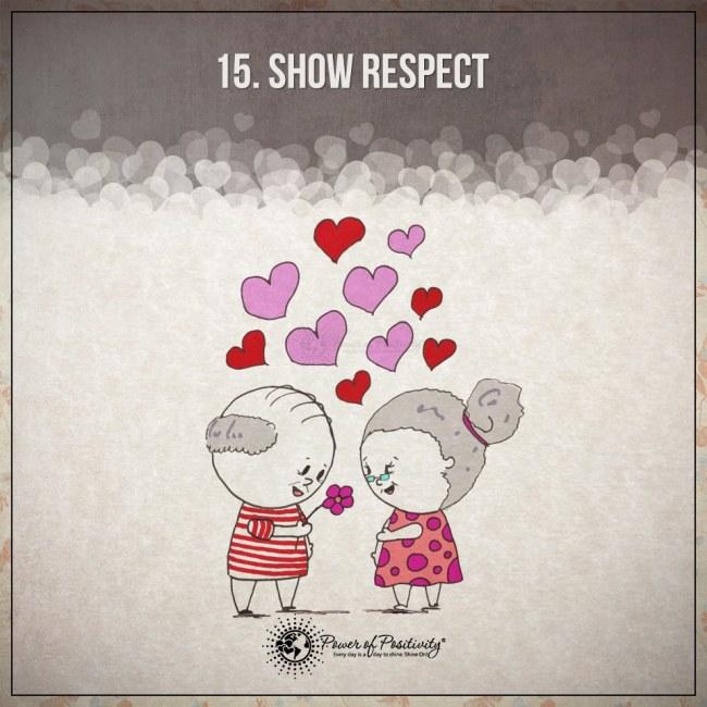 Ilustracje przedstawiajace 15 zasad szczesliwego i udanego zwiazku 15