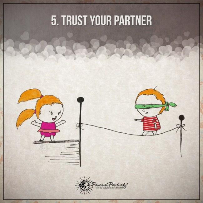 Ilustracje przedstawiajace 15 zasad szczesliwego i udanego zwiazku 5