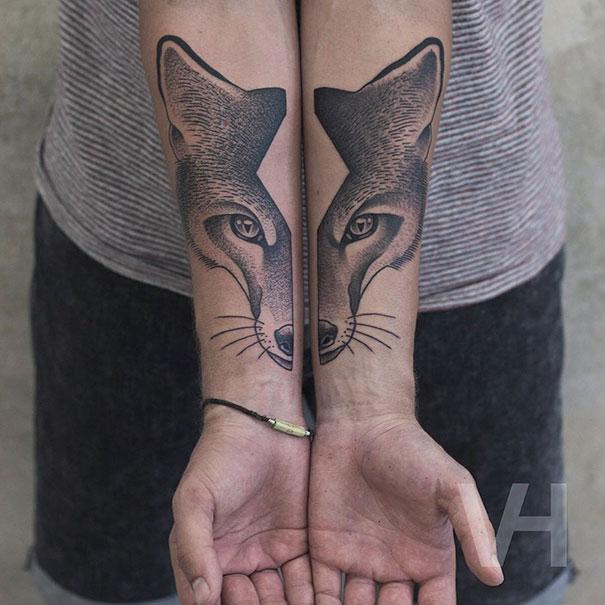 Symetryczne tatuaze autorstwa Valentina Hirsch1