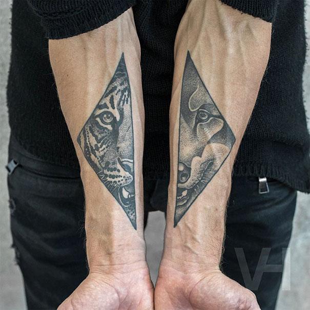 Symetryczne tatuaze autorstwa Valentina Hirsch12