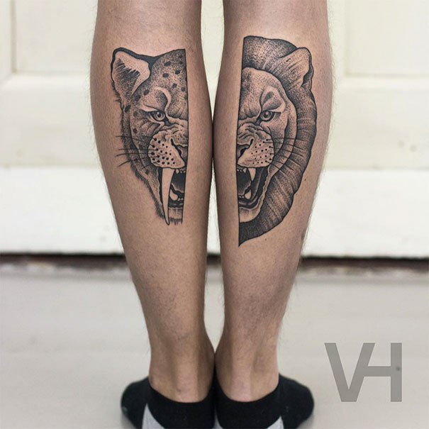 Symetryczne tatuaze autorstwa Valentina Hirsch13