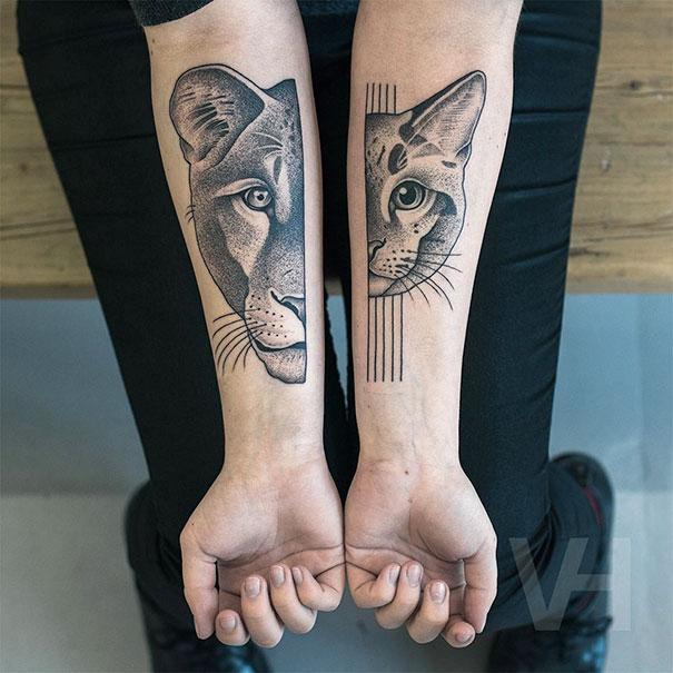 Symetryczne tatuaze autorstwa Valentina Hirsch2