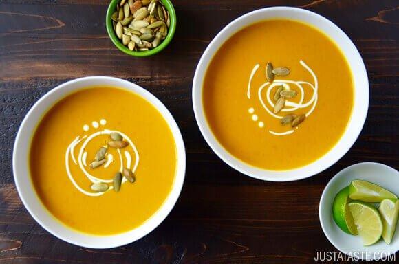 kokosowo - dyniowa tajka zupa