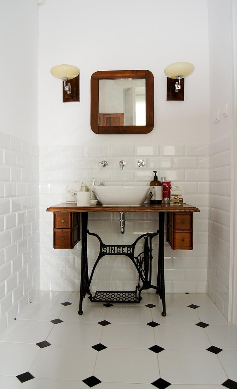 własnoręczne meble do łazienki